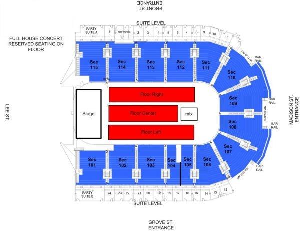 Grossinger Motors Arena Conferences In Bloomington IL US - Us cellular suite map